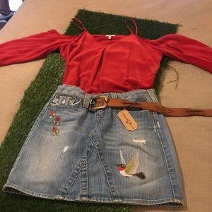 Custom, designer skirt.